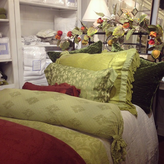We're freshening our beds for fall- have you? #bedding #fall #pretty #lovely #tomball #laurieshomefurnishings