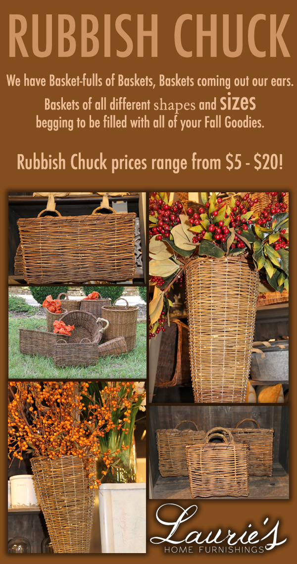 Rubbish Chuck Baskets Laurie S Home Furnishings